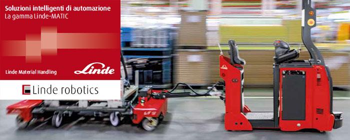 Carrelli Elevatori autonomi Linde Robotics